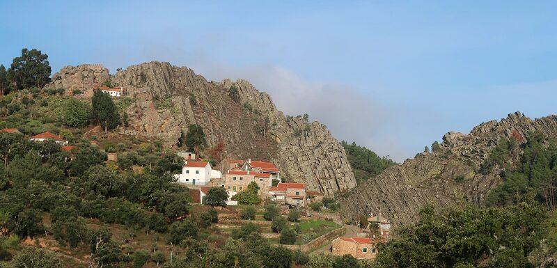 Penha Garcia nestled in the rocks