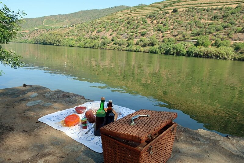 Picnic on the banks of the Douro River
