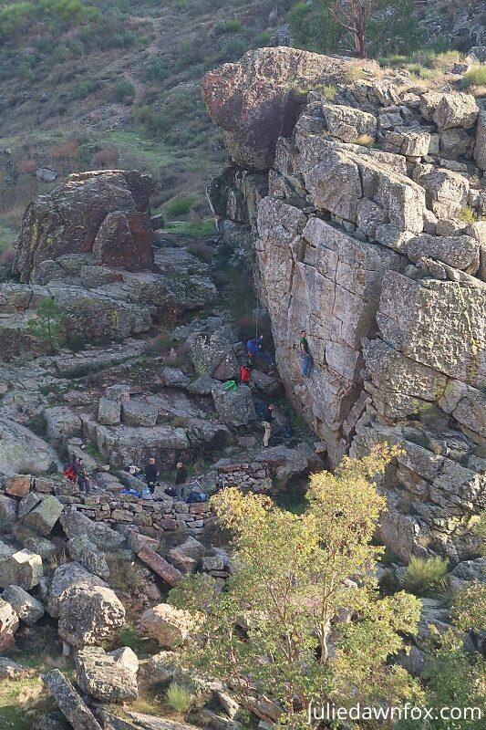 Rock climbing in Penha Garcia