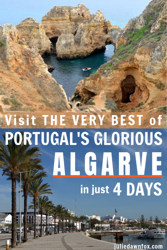 Caves and palm trees. 4 Days In The Algarve Itinerary (from Lisbon) _ Julie Dawn Fox in Portugal
