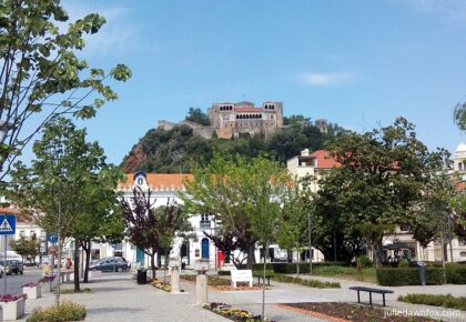 Leiria city centre and castle, Portugal