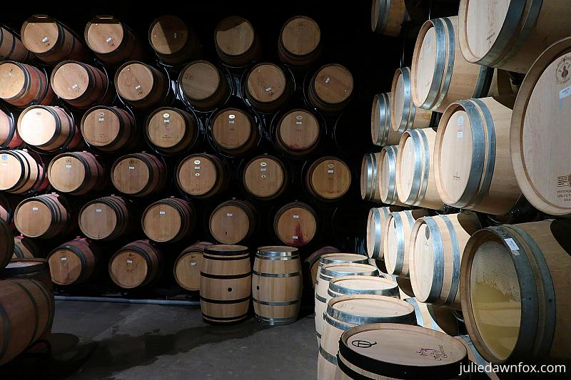 Individually stacked wine barrels, Quinta do Crasto
