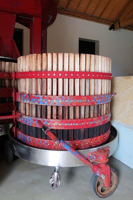 Traditional wine press, Quinta dos Murças, Douro wine region