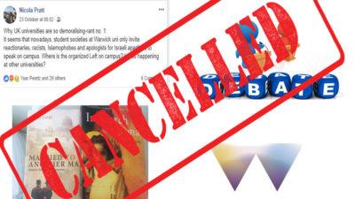Ghada Karmi cancelled