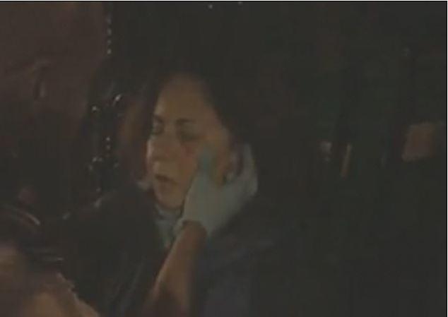 Jewish protestor injured