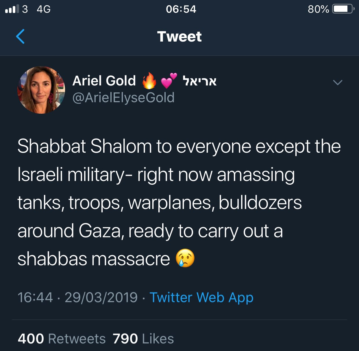 Arile gold massacre Anti-Israel