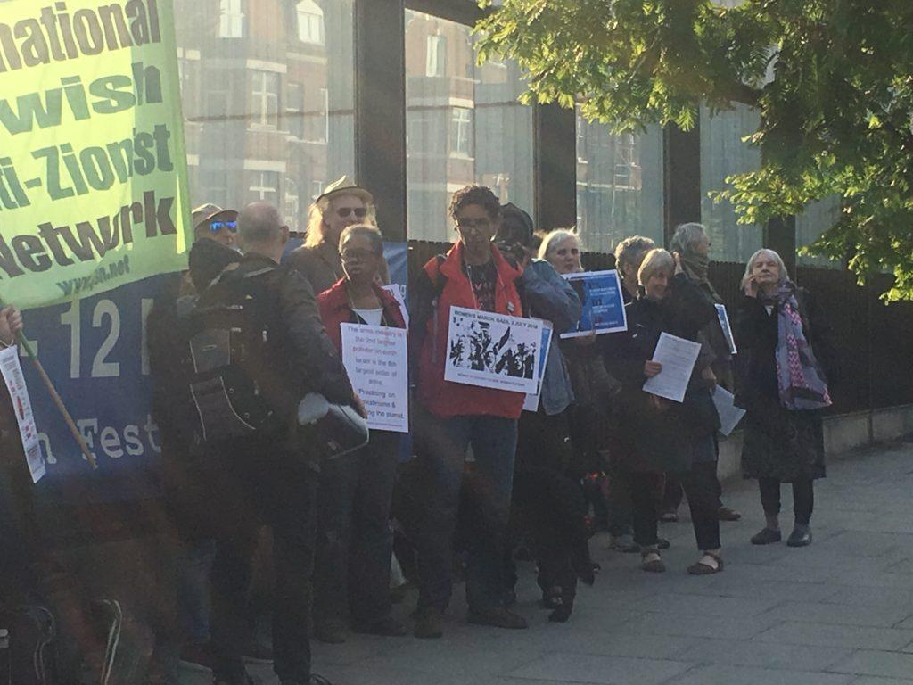JW3 anti-Zionist protest