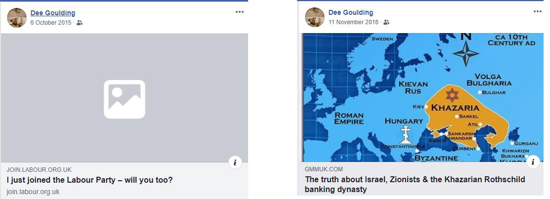 antisemitic dee goulding