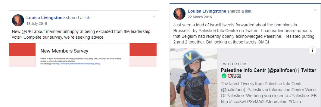 Louisa Livingstone antisemitic