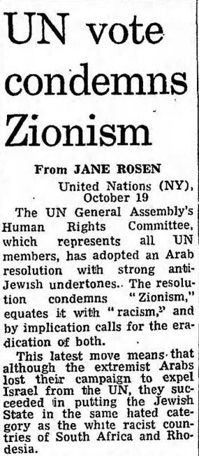 Guardian zionism racism