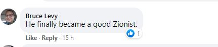 cruel. the only good zionist