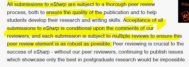 glasgow peer review