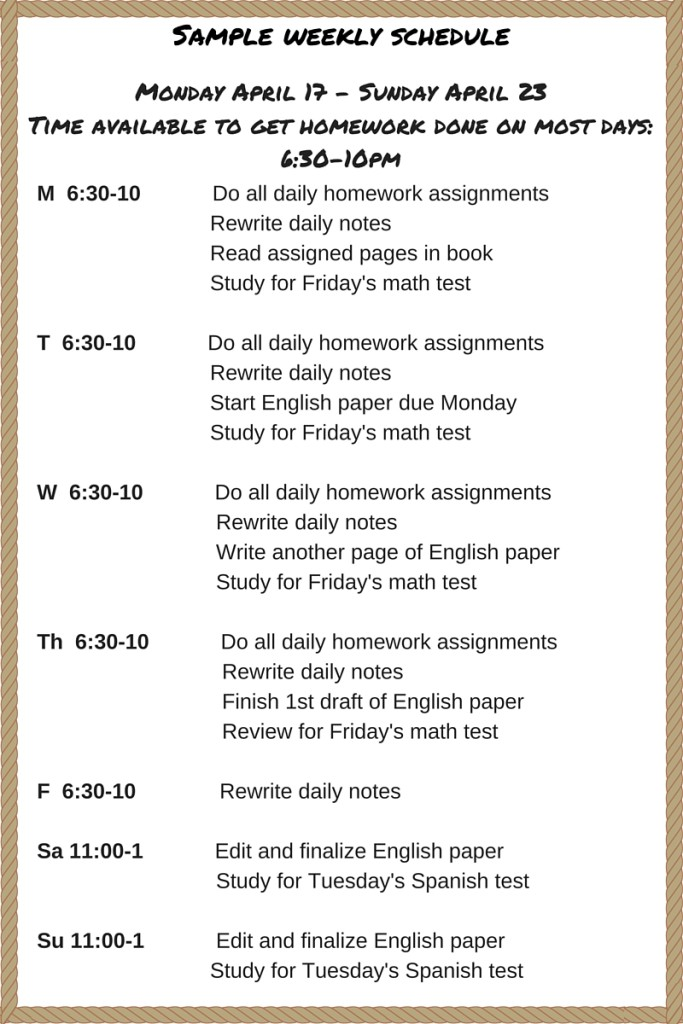 How to find time to get your homework done