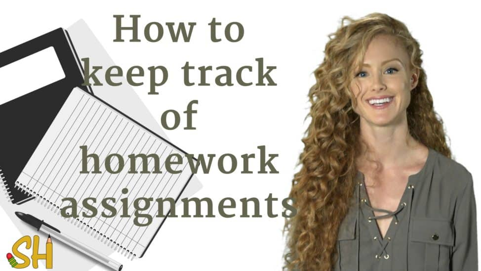 how to keep track of homework assignments