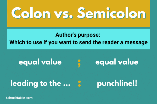 difference between colon and semicolon