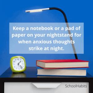 Anxiety at night tip
