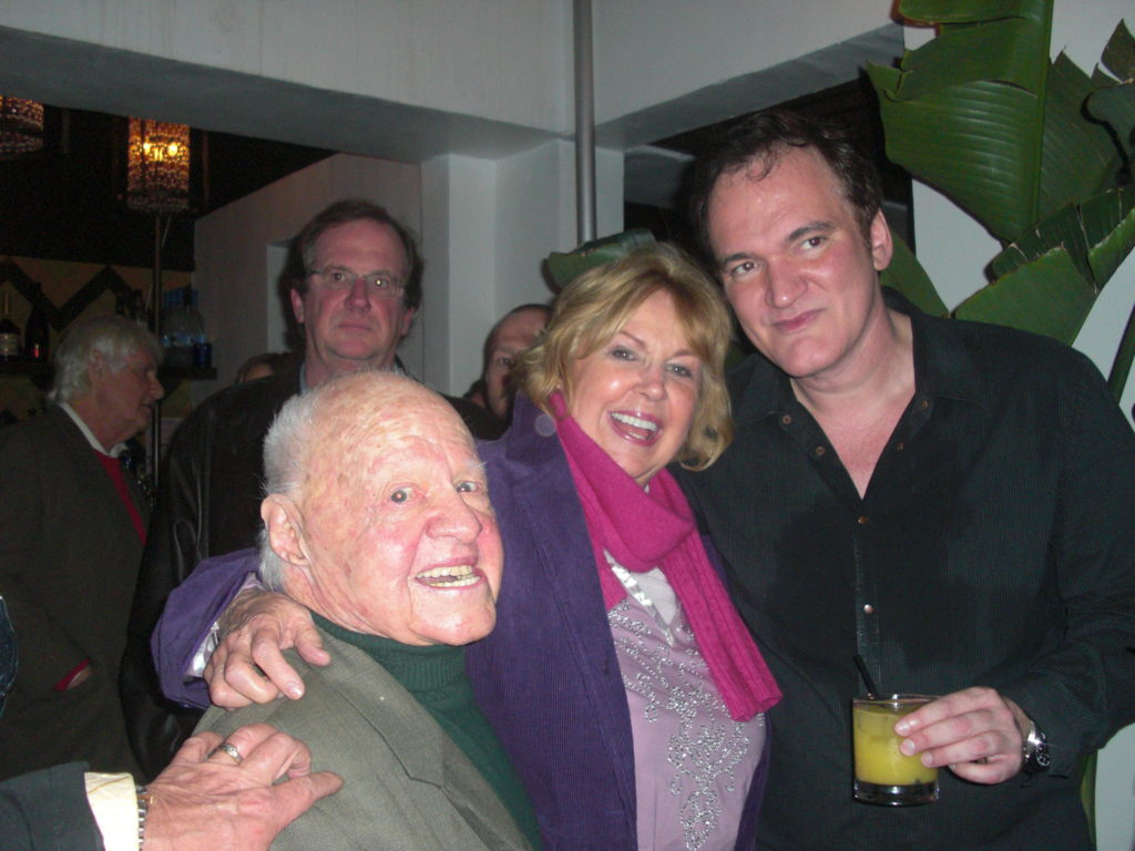 Mickey Rooney, Jan Rooney and Quentin Tarantino Hollywood Chauteau Marmont Hotel
