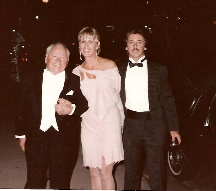 Mickey Rooney, Jan Rooney and Christoher Aber at the Grammys 1980
