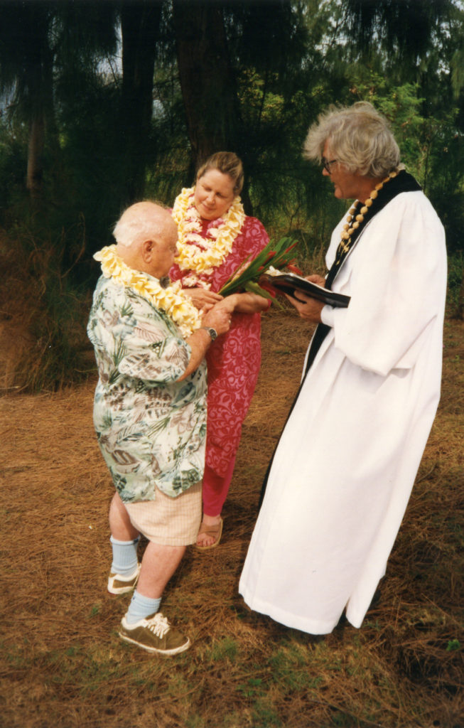 Jan and Mickey Rooney renew vows in Maui, Hawaii 1998
