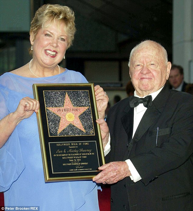 Hollywood Walk Of Fame, a new Star for Jan and Mickey Rooney