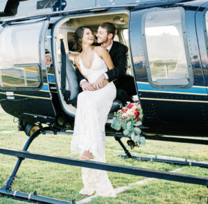 Wedding Send Off Photo by Helicopter