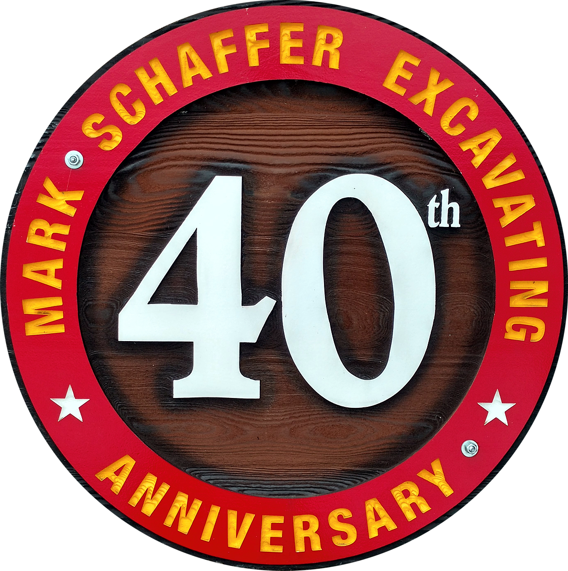 MSE 40th Anniversary Circular Wooden Plaque
