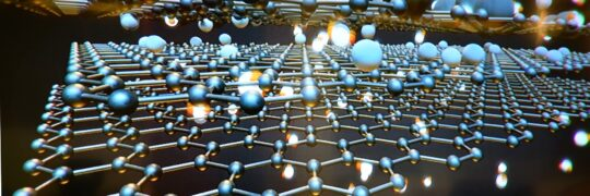 Graphic representation of molecular structure of graphene