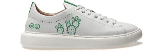 POZ sneaker - Off White Special Edition with Green Cucti Embroidery