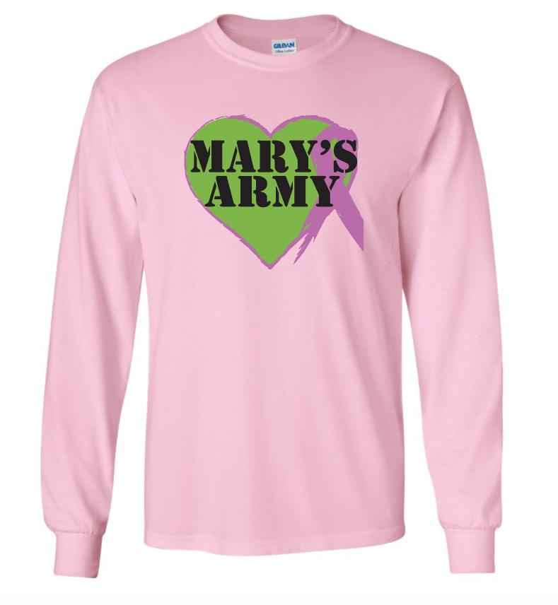 Lg Logo Long Sleeve Pink Tee shirt