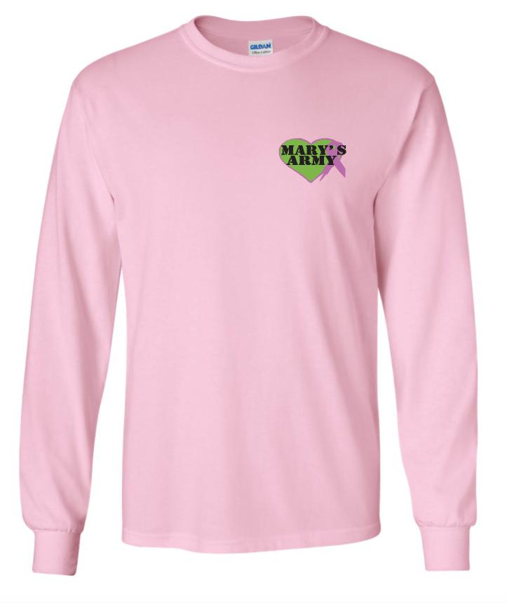 Sm logo long sleeve tee shirt pink