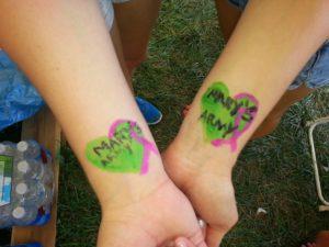 Mary's Army tattoos!