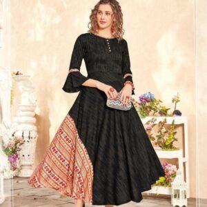 Floor length Indo western kurti dress