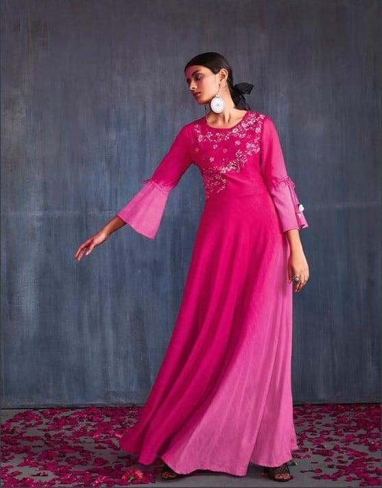 Kurtis, salwars and indo-western dresses on display