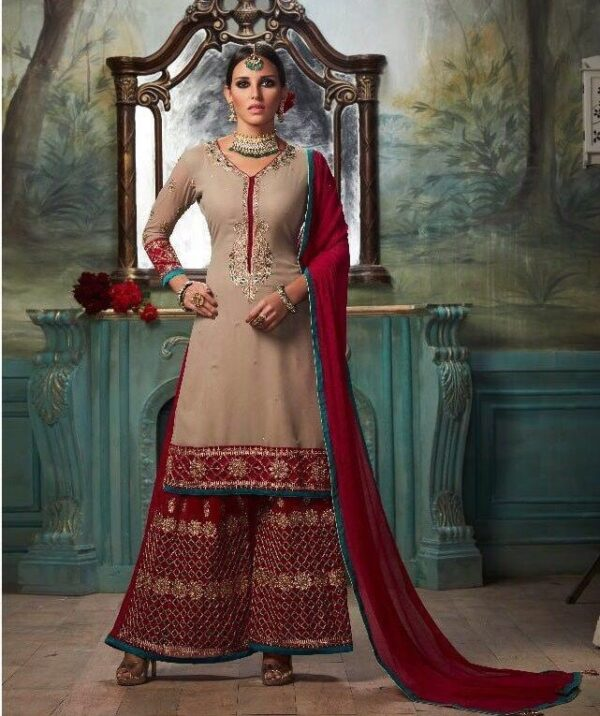 Punjabi Suit, Georgette suit, Party wear, Indian dress