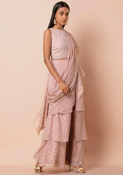 Indo-western Saree, Pre-draped Saree