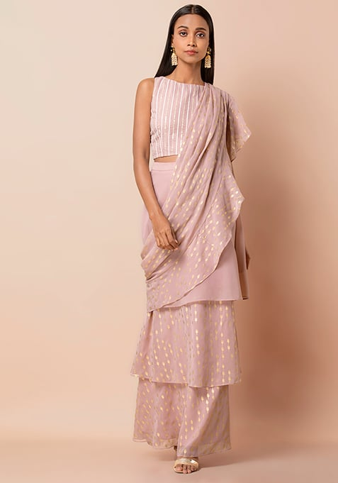 Indo-western Saree, Pre-draped Saree