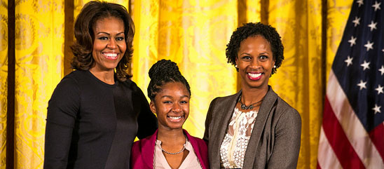 Ifetayo  Honored By Michelle Obama