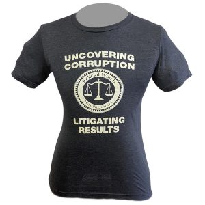 52/48 Heathered Tee Shirt Uncovering Corruption