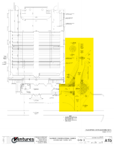 Plan of proposed ramp for Meetinghouse
