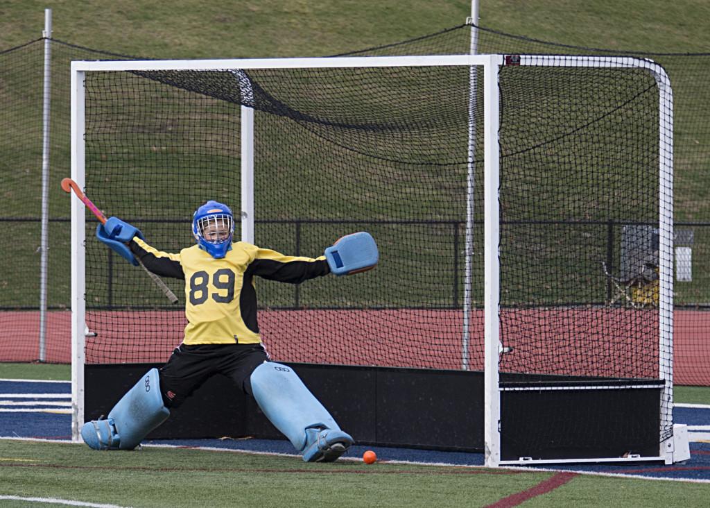 Penalty stroke goal defended by Whaler goalie Charlotte Johnson #89
