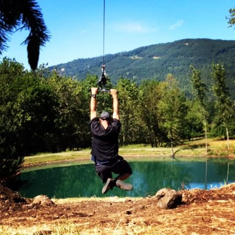 Zip line feature on a treehouse…what?