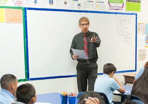 teacher teaching at TIA