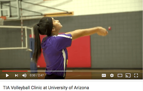 Volleyball clinic at U of A with head coach Dave Rubio