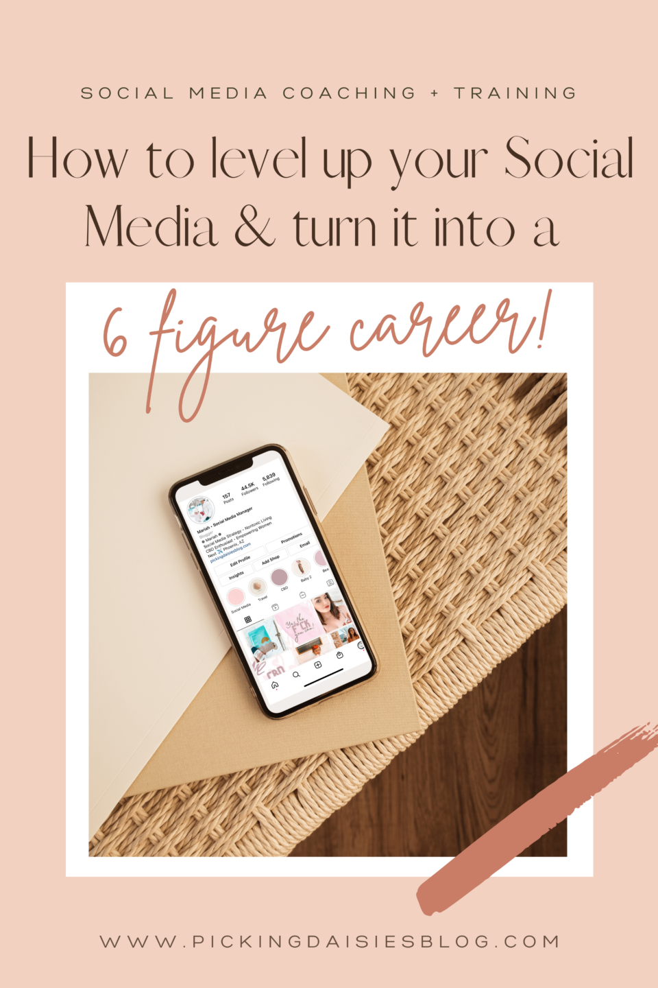 How to level up your Social Media & turn it into a 6-figure career Social Media Training Instagram Marketing Influencer Instagram Training