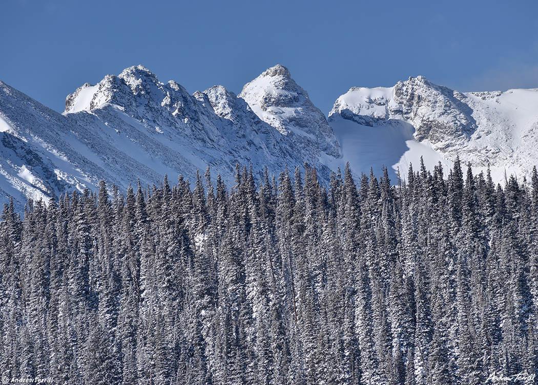 Niwot Ridge Navajo Peak Apache Peak and San Isabelle Glacier indian peaks wilderness colorado
