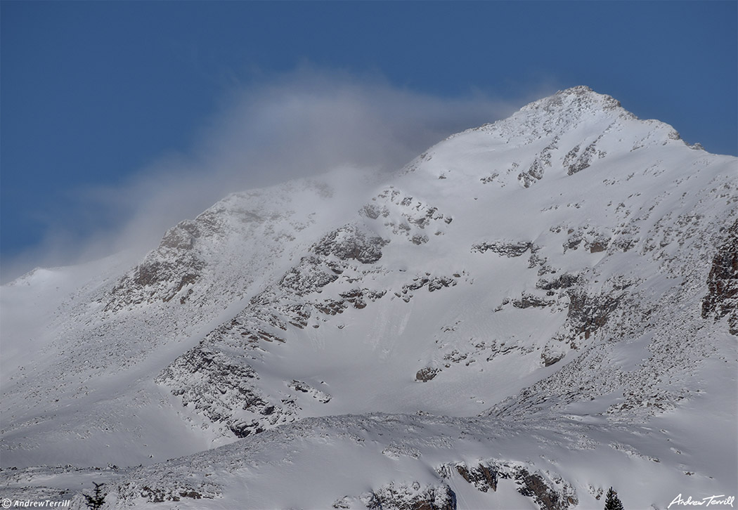 Paiute Peak on continental divide in indian peaks wilderness colorado winter