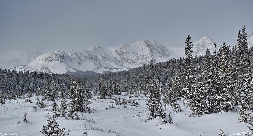 winter mountains in indian peaks wilderness near brainard lake colorado