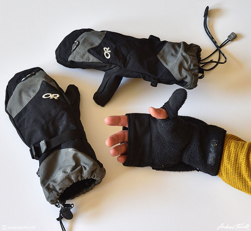 winter mittens camping skills and gear