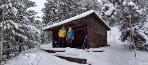 andrew terrill igloo ed wooden cabin winter colorado