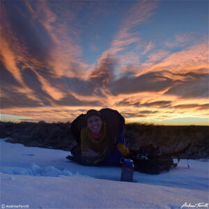 andrew terrill sleeping out a bivvy at sunrise
